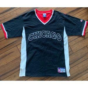 Vintage Chicago Bulls NBA Shooting Shirt Champion